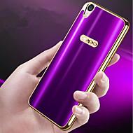 お買い得  携帯電話ケース-ケース 用途 OPPO R9s Plus / R9s メッキ仕上げ / 超薄型 バックカバー ソリッド ソフト TPU のために OPPO R9s Plus / OPPO R9s / OPPO R9 Plus