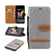 tanie Etui na telefony-Kılıf Na Huawei Motorola Etui na karty Portfel Z podpórką Flip Pełne etui Linie / fale Twarde Włókienniczy na Moto G5 Plus Moto G5 Moto