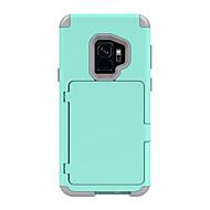 Недорогие Чехлы и кейсы для Galaxy S9 Plus-Кейс для Назначение SSamsung Galaxy S9 Plus / S9 Бумажник для карт / Защита от удара / броня Чехол Однотонный / броня Твердый ПК для S9 / S9 Plus