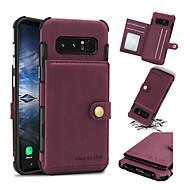 Недорогие Чехлы и кейсы для Galaxy Note 8-Кейс для Назначение SSamsung Galaxy Note 8 Бумажник для карт Защита от удара Кейс на заднюю панель Однотонный Твердый Кожа PU для Note 8