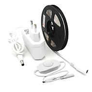 お買い得  -ZDM® 5m ライトセット 300 LED 1×調光スイッチ 1 x 2A電源アダプタ 温白色 クールホワイト カット可能 防水 テレビの背景 ノンテープ・タイプ 12V 1個