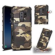 Недорогие Чехлы и кейсы для Galaxy S9 Plus-Кейс для Назначение SSamsung Galaxy S9 S9 Plus Бумажник для карт Защита от удара Кейс на заднюю панель Камуфляж Твердый Кожа PU для S9