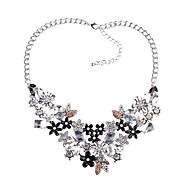 Недорогие Украшения в цветочном стиле-Длинные ожерелья Заявление ожерелья - Цветы Дамы, европейский, Элегантный стиль Белый 45+8.5 cm Ожерелье Бижутерия Назначение Для вечеринок, Официальные