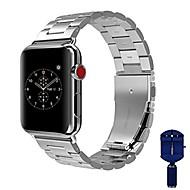 حزام إلى Apple Watch Series 4/3/2/1 Apple بكلة كلاسيكية ستانلس ستيل شريط المعصم