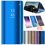 cheap Samsung Accessories-Case For Samsung Galaxy S9 Plus / S9 with Stand / Mirror / Auto Sleep / Wake Up Full Body Cases Solid Colored Hard PU Leather for S9 / S9