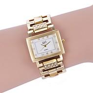 billige -ASJ Dame Quartz Armbåndsur Japansk Hverdagsklokke Legering Band Luksus Mote Hvit Gylden