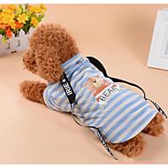 halpa -Koirat Kissat T-paita Koiran vaatteet Raidoitettu Karhu Ruskea Sininen Puuvillakangas Asu Lemmikit Nainen Mies Klassinen tyyli Rento /