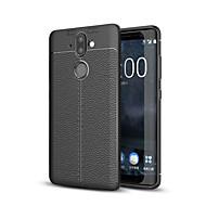 お買い得  携帯電話ケース-ケース 用途 Nokia Nokia 9 つや消し エンボス加工 バックカバー ソリッド ソフト TPU のために Nokia 9