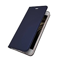 Carcasă Pro Huawei P10 Plus / P10 Lite Pouzdro na karty / se stojánkem / Flip Celý kryt Jednobarevné Pevné PU kůže pro P10 Plus / P10 Lite / P10