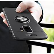 Недорогие Чехлы и кейсы для Galaxy S9 Plus-Кейс для Назначение SSamsung Galaxy S9 S9 Plus со стендом Кейс на заднюю панель Однотонный Мягкий ТПУ для S9 Plus S9 S8 Plus S8