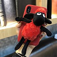 Недорогие Кейсы для iPhone 8-Кейс для Назначение Apple iPhone X iPhone 7 Plus С узором Кейс на заднюю панель Мультипликация Мягкий текстильный для iPhone X iPhone 8