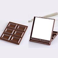お買い得  浴室用小物-かわいいミニメイクミラーチョコレートクッキーは、quareポケットミラーgla