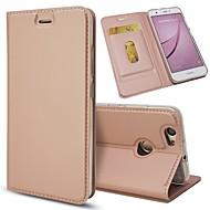voordelige Mobiele telefoonhoesjes-hoesje Voor Huawei Nova 2 Nova Kaarthouder met standaard Flip Volledig hoesje Effen Hard PU-nahka voor Nova 2 Plus Nova 2 Nova