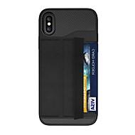 Недорогие Кейсы для iPhone 8-Кейс для Назначение Apple iPhone X iPhone 8 Plus Бумажник для карт Магнитный Оригами броня Кейс на заднюю панель броня Твердый ПК для