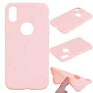 fodral Till Apple iPhone X / iPhone 8 Plus Frostat Skal Enfärgad Mjukt TPU för iPhone X / iPhone 8 Plus / iPhone 8