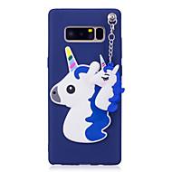 Недорогие Чехлы и кейсы для Galaxy Note-Кейс для Назначение SSamsung Galaxy Note 8 С узором Кейс на заднюю панель единорогом 3D в мультяшном стиле Мягкий ТПУ для Note 8