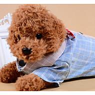 halpa -Koirat Kissat T-paidat Koiran vaatteet Color Block Ruutu / skotti Rusetti Harmaa Sininen Kangas Asu Lemmikit Mies Rento / arki Rusetti