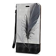 Недорогие Чехлы и кейсы для Galaxy S9-Кейс для Назначение SSamsung Galaxy S9 S9 Plus Бумажник для карт Кошелек со стендом Флип Чехол Перья Твердый Кожа PU для S9 Plus S9 S8