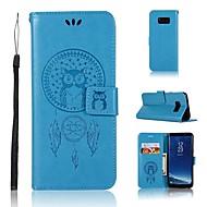 Недорогие Чехлы и кейсы для Galaxy S7 Edge-Кейс для Назначение SSamsung Galaxy S9 S9 Plus Бумажник для карт Кошелек Флип С узором Чехол Ловец снов Сова Твердый Кожа PU для S9 Plus