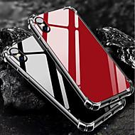 Недорогие Кейсы для iPhone 8-Кейс для Назначение Apple iPhone X iPhone 8 Защита от удара Зеркальная поверхность Кейс на заднюю панель Однотонный Мягкий ТПУ для iPhone