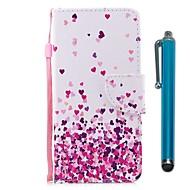 preiswerte Handyhüllen-Hülle Für Huawei P9 Lite Mini P smart Kreditkartenfächer Geldbeutel mit Halterung Flipbare Hülle Magnetisch Ganzkörper-Gehäuse Herz Hart