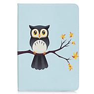 Недорогие Чехлы и кейсы для Samsung Tab-Кейс для Назначение SSamsung Galaxy Tab A 9.7 Бумажник для карт Кошелек со стендом С узором Авто Режим сна / Пробуждение Чехол Сова