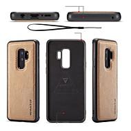 Недорогие Чехлы и кейсы для Galaxy S7 Edge-Кейс для Назначение SSamsung Galaxy S9 S9 Plus Своими руками Кейс на заднюю панель Однотонный Мягкий Кожа PU для S9 Plus S9 S8 Plus S8 S7