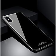 Недорогие Кейсы для iPhone 8 Plus-Кейс для Назначение Apple iPhone X iPhone 8 Защита от удара Ультратонкий Кейс на заднюю панель Сплошной цвет Твердый Закаленное стекло для