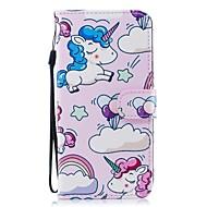 Недорогие Чехлы и кейсы для Galaxy S9-Кейс для Назначение SSamsung Galaxy S9 Plus S8 Plus Бумажник для карт Кошелек со стендом Флип С узором Чехол единорогом Твердый Кожа PU