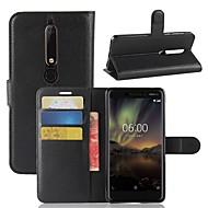 お買い得  携帯電話ケース-ケース 用途 Nokia Nokia 7 Plus Nokia 6 2018 カードホルダー ウォレット フリップ 磁石バックル フルボディーケース ソリッド ハード PUレザー のために Nokia 9 Nokia 8 Nokia 7 Plus Nokia 7 Nokia