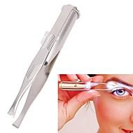 お買い得  浴室用小物-軽いステンレススチールピンセットポータブルled眉毛クリップpince a epilerピンセット脱毛ツール
