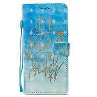 Недорогие Чехлы и кейсы для Galaxy S7-Кейс для Назначение SSamsung Galaxy S9 S9 Plus Бумажник для карт со стендом Флип Магнитный С узором Чехол Слова / выражения Твердый Кожа