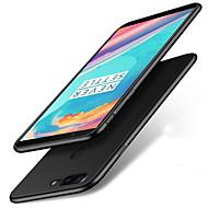 お買い得  携帯電話ケース-ケース 用途 OnePlus OnePlus 5T 5 つや消し バックカバー ソリッド ハード PC のために One Plus 5 OnePlus 5T One Plus 3 One Plus 3T