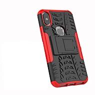 Недорогие Кейсы для iPhone 8 Plus-Кейс для Назначение Apple iPhone X iPhone 8 Plus Защита от удара со стендом броня Кейс на заднюю панель Плитка броня Твердый ПК для