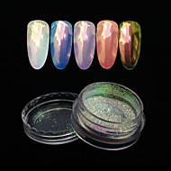 One-piece Suit / 1pc Glitter Powder Glossy nail art Manicure Pedicure Mirror Effect / Nail Glitter Wedding / Event / Party