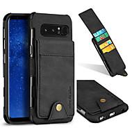 Недорогие Чехлы и кейсы для Galaxy Note 8-Кейс для Назначение SSamsung Galaxy Note 8 Бумажник для карт Защита от удара Кейс на заднюю панель Однотонный Твердый текстильный для