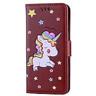 お買い得  携帯電話ケース-ケース 用途 Xiaomi Redmi Note 4 ウォレット / カードホルダー / スタンド付き フルボディーケース ユニコーン ハード PUレザー のために Xiaomi Redmi Note 4 / Xiaomi Redmi Note 3