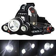 cheap Sports & Outdoors Accessories-Headlamps / Headlight LED 3000 lm 4 Mode with Charger Rechargeable / Strike Bezel Camping / Hiking / Caving / Traveling