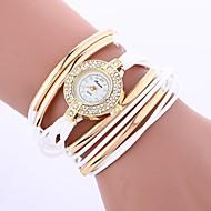 billige Bohemeure-Dame Quartz Modeur Kinesisk Imiteret Diamant PU Bånd Bohemisk Mode Sort Hvid Blåt Rød Brun Grøn Gråt Guld Pink