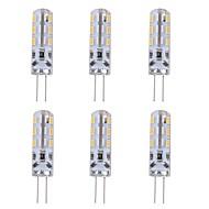 abordables Luces LED de Doble Pin-6pcs 1W 90lm G4 Luces LED de Doble Pin T 24 Cuentas LED SMD 3014 Decorativa Verde Azul Rojo 12V