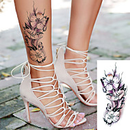 abordables Tatuajes Temporales-Adhesivo / Pegatina tatuaje brazo Los tatuajes temporales 5 pcs Series de Flor / Serie romántica Artes de cuerpo