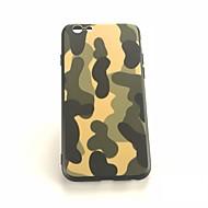 Недорогие Кейсы для iPhone 8 Plus-Кейс для Назначение Apple iPhone X / iPhone 8 Plus Защита от удара / Матовое / С узором Кейс на заднюю панель Камуфляж Твердый ПК для