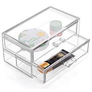 abordables Almacenamiento de escritorio-El plastico Rectángulo Nuevo diseño Casa Organización, 1pc Cajones / Almacenamiento de Maquillaje / Organizadores de Escritorio