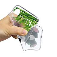 Недорогие Кейсы для iPhone 8 Plus-Кейс для Назначение Apple iPhone X / iPhone 8 С узором Кейс на заднюю панель Панда Мягкий ТПУ для iPhone 8 Pluss / iPhone 7 Plus / iPhone 7