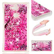 preiswerte Handyhüllen-Hülle Für Sony Xperia XZ2 / Xperia L2 Stoßresistent / Mit Flüssigkeit befüllt / Muster Rückseite Blume / Glänzender Schein Weich TPU für