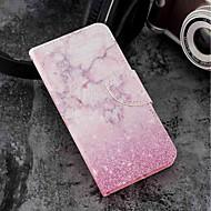 お買い得  携帯電話ケース-ケース 用途 Motorola Moto G6 Plus / MOTO G6 カードホルダー / ウォレット / スタンド付き フルボディーケース マーブル ハード PUレザー のために Moto G6 Plus / MOTO G6 / Moto G5s Plus