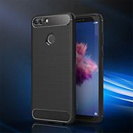 お買い得  携帯電話ケース-ケース 用途 Huawei P smart つや消し バックカバー ソリッド ソフト TPU のために P smart