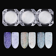 3pcs / One-piece Suit Glitter Powder Glossy nail art Manicure Pedicure Mirror Effect / Nail Glitter Wedding / Event / Party