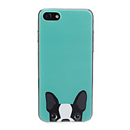 Недорогие Кейсы для iPhone 8 Plus-Кейс для Назначение Apple iPhone X / iPhone 7 Ультратонкий / С узором / Милый Кейс на заднюю панель С собакой / Животное Мягкий ТПУ для