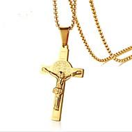 お買い得  -ペンダントネックレス  -  十字架 ヴィンテージ ゴールド 51 cm ネックレス 用途 贈り物, 日常